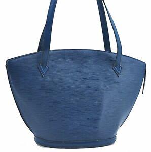 Auth Louis Vuitton Epi Saint Jacques Shopping Shoulder Bag Blue M52265 LV E3497