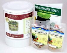 Sprouting Kit  Victorio 4 Tray Organic Alfalfa Lentil Bean Salad Sprout Mix