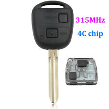 2 Buttons Smart Remote Key fob for Toyota RAV4 Corolla HiAce 315MHZ with 4C Chip