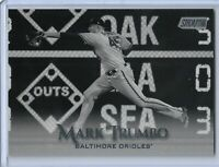 2019 Topps Stadium Club Black and White Parallel Mark Trumbo Baltimore Orioles