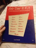 Solo Time USA 23 Easy Piano Solos by AMerican Composers Carl Fischer Sheet Music