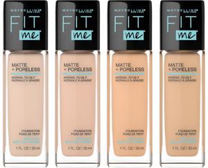 Maybelline Fit Me Matte + Poreless Liquid Foundation 1 fl oz — Choose Your Shade