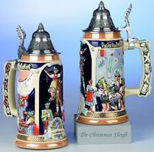 Traditional German Wiesn Oktoberfest Beer Stein Mug Krug with Lid 0.75 Liter