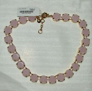 NWT J Crew pale pink round stone statement necklace 15""