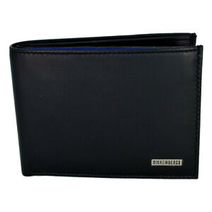 Men's Wallet Black Bikkembergs D3505 Metal Plate Billfold 5C
