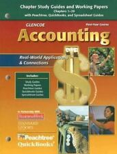 Glencoe Accounting First Year Course Chapters 1-29 Working Papers Study Guides