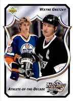 1992-93 Upper Deck Athlete Of The Decade Wayne Gretzky #16