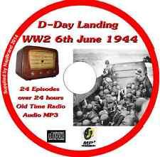 D-Day Landing WW2 6th June 1944 Old Time Radio Broadcast OTR MP3 CD