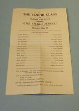 1929 Medford Oklahoma High School The Charm School Senior Class Play Program