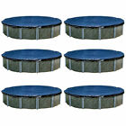 Swimline 15 Foot Round Above Ground Winter Swimming Pool Cover, Blue (6 Pack)