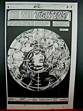 Marvel Fanfare #12 - Black Widow - Original Production Art Stats - George Perez