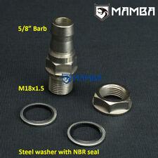 "DIY turbo oil pan return drain barb adapter fitting 5/8"" (OD 17mm) no welding"