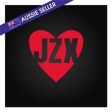 JZX Love <3 Sticker Decal RED - Chaser JZX81 JZX100 JZX90 JZX110 1JZ 2JZ Turbo