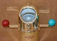 "Antique full brass nautical gimbal compass 18"" ships binnacle gimballed compass"