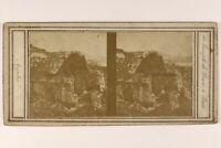 Italia Frutti di Bosco Tempio Da Diane c1858 Foto Stereo Vintage Albumina