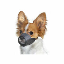 Medium Size-3 Nylon Pet Dog Muzzle Mouth Grooming No Bark Bite Adjustable Black