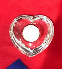 Orrefors Amour Crystal Votive, Heart Shape Candle Holder