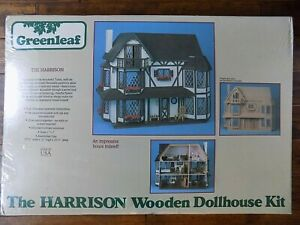 The Harrison Wooden Dollhouse Kit 1979 Greenleaf #8006 Vintage