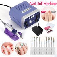 New Professional Electric Nail Drill Manicure Tool Pedicure Machine File Set Kit