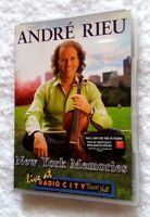 ANDRE RIEU: NEW YORK MEMORIES (DVD) R-ALL, LIKE NEW, FREE POST IN AUSTRALIA