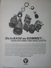 7/1979 PUB VARO NIGHT VISION DE NUIT NACHSICHT US ARMY GOGGLES FRENCH AD
