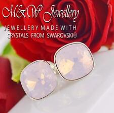 925 Silver Stud Fancy Stone Rose Water Opal 10mm Crystals From Swarovski®