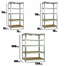 2,3,5 Tier Garage Shed Racking Storage Shelving Units Boltless Heavy Duty Shelf