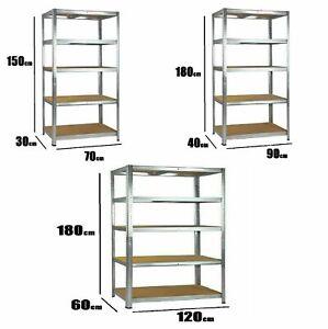 Garage shelving Shed Shop Racking Storage Shelve Units Boltless Heavy Duty Shelf