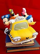 DISNEY Yellow TAXI CAB BANK ~ MICKEY MINNIE DONALD GOOFY PLUTO Fab 5 piggy coin