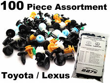 100 Piece Plastic Trim Clip Assortment- Common Fastener Set for Toyota / Lexus
