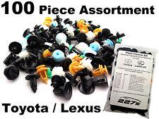 100 Stück Plastik Clip Rand Sortiment Gemeinsame Verschluss Set für Toyota/Lexus