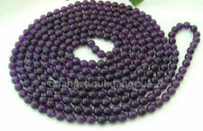 """8mm Russican Amethyst Round Bead Gemstone Necklace 36"""""""