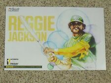 """2017 Oakland A's Reggie Jackson 11"""" x 17"""" Authentic Fan cheer card (8 of 14)"""