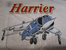 Harrier Jump Jet Graphic Aircraft Tee Shirt - 'Xl' Size - Free Shipping