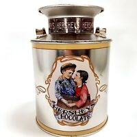 Hershey's Chocolate Collectible Tin Boyfriend & Girlfriend Milk Canister