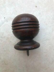Large Antique Walnut Finial
