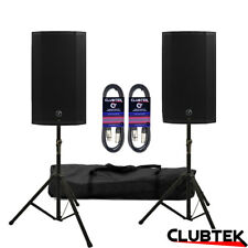 2 x Mackie Thump15A V4 active speaker 2600W DJ Club + FREE Stands Bag Leads UK