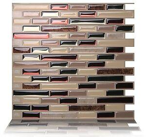 Tic Tac Tiles 3D Peel and Stick Wall Tile_Como Mare(25cm x 23.5cm x 10 sheets)