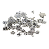 100g/Pack Alloy Assorted Flower Charms Pendants DIY Jewelry Making Findings