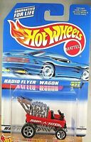 1997 Hot Wheels Collector #827 RADIO FLYER WAGON Red w/Chrome 5 Sp Malaysia Base