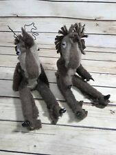 Reindeer Dolls Brown Christmas Holiday Ornament Home Decor Xmas