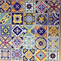 Ceramica Vietri Patchwork Piastrelle 10x10 Decorate Con Serigrafia A Mano(100pz.