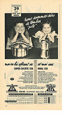 PUBLICITE ADVERTISING  1960   SEB   cocotte- minute cafetière MOKA