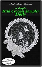 Annie Potter Presents Irish Crochet Sampler Doily PDF Download only!