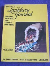 LAPIDARY JOURNAL - AMETHYST GEODE - July 1978 v 32 # 4