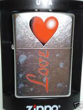 "ZIPPO "" Heart Love "" pour Saint-Valentin - NEUF - 401"