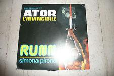 """PIRONE SIMONA""""ATOR L'INVINCIBILE disco 45 giri FULL TIME 1983 COLONNA SONORA"""