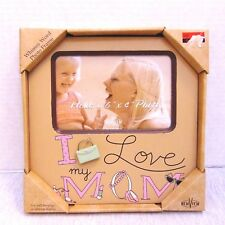 "New View I Love my Mom Photo Frame 6"" x 4"" Picture Wall Hanging or Tabletop"