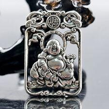 Collectible Chinese Silver Copper Handmade Maitreya Buddha Pendant Zrf