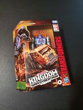 Transformers War for Cybertron: Kingdom Deluxe Huffer Figure NIB Free Ship